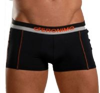 Geronimo Mens Underwear Stretch Micro Hipster Boxer Black 252b1